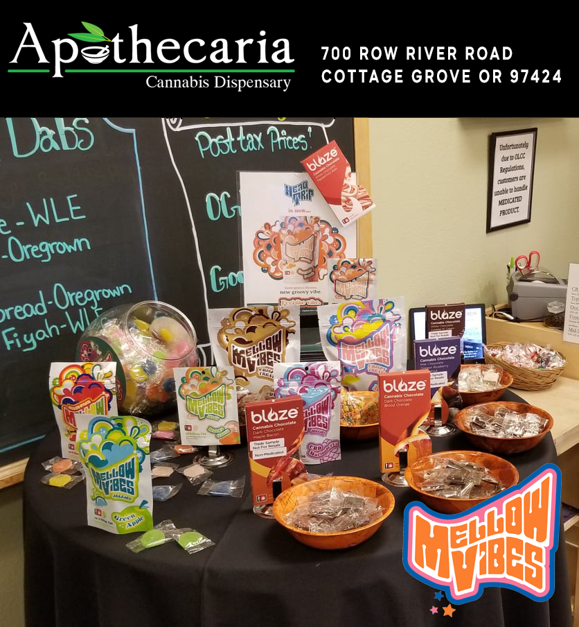 Mellow Vibes Edibles At Apothecaria Dispensary